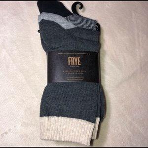 NWT Frye: 3 pairs of women's everyday crew socks